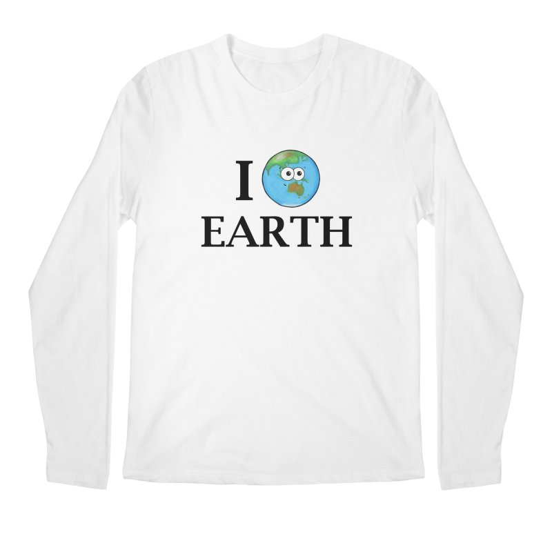 I Heart Earth Men's Regular Longsleeve T-Shirt by Adrienne Body