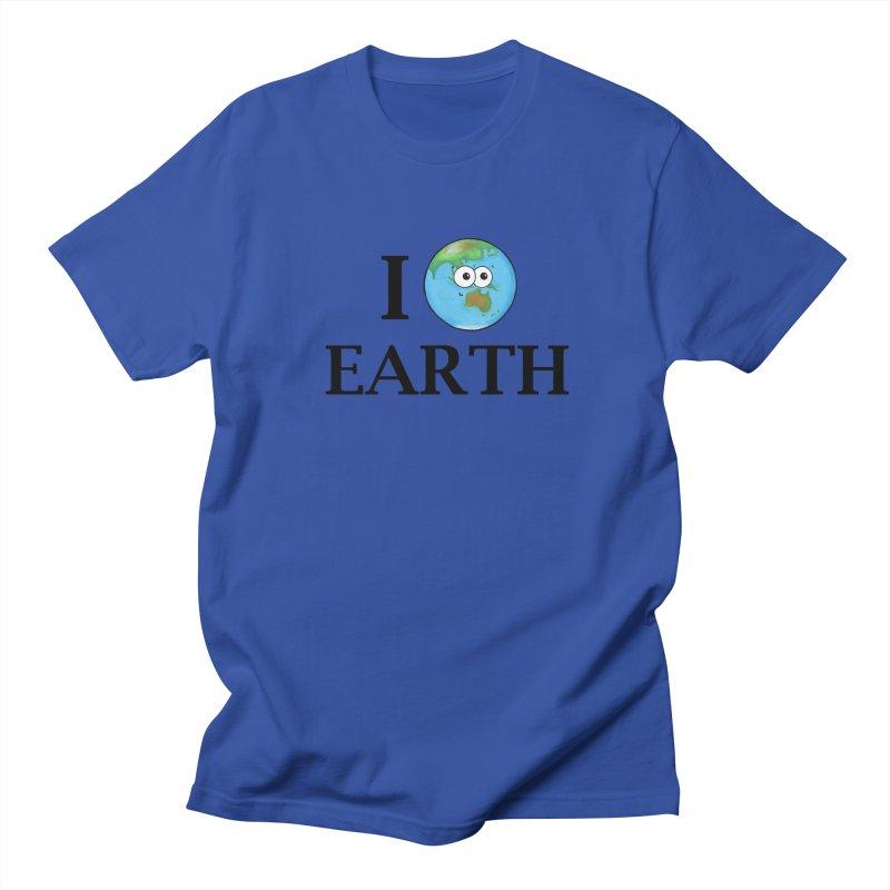 I Heart Earth Women's Regular Unisex T-Shirt by Adrienne Body