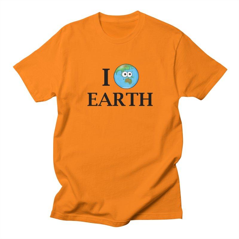 I Heart Earth Men's Regular T-Shirt by Adrienne Body