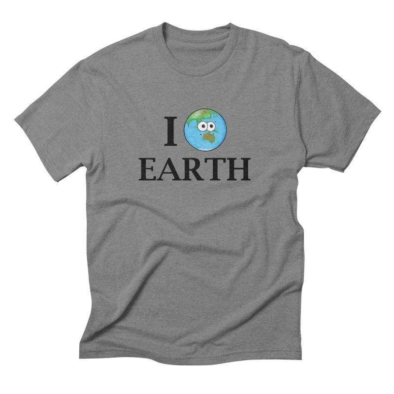 I Heart Earth Men's Triblend T-Shirt by Adrienne Body
