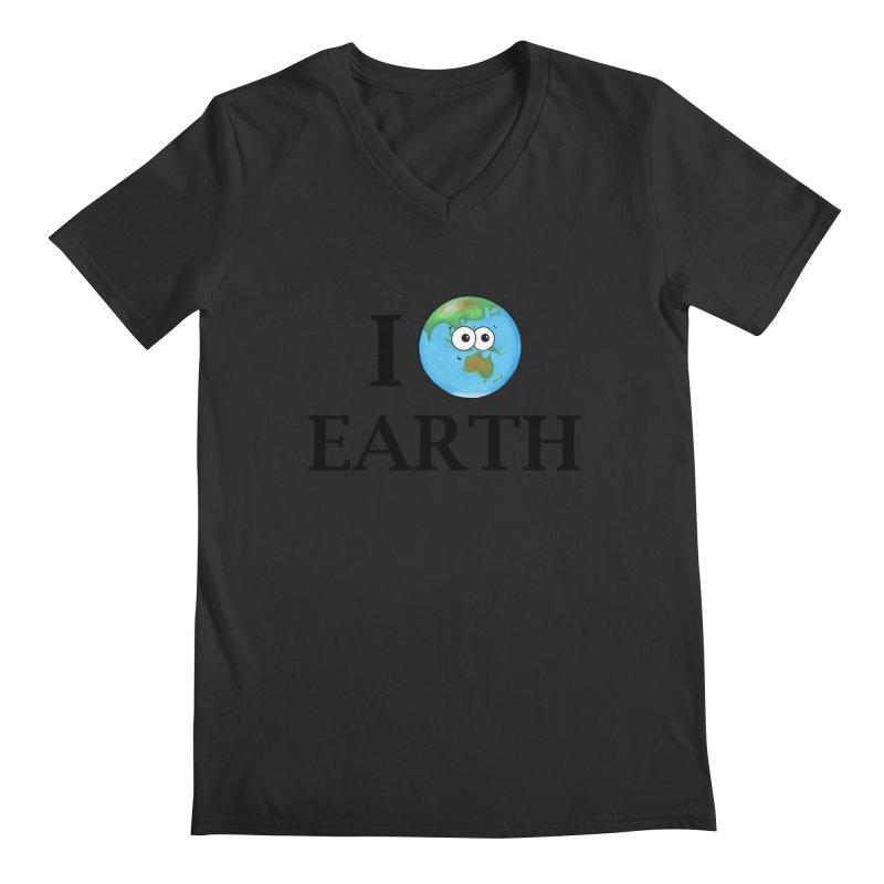I Heart Earth Men's Regular V-Neck by Adrienne Body