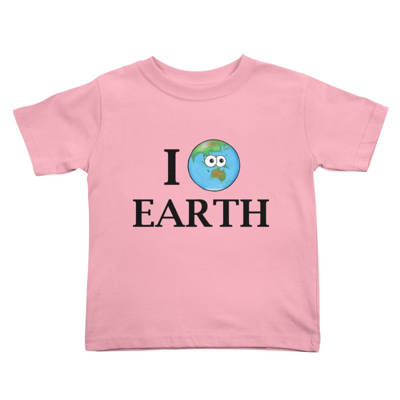 I Heart Earth Kids Toddler T-Shirt by Adrienne Body