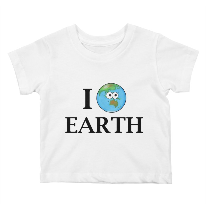 I Heart Earth Kids Baby T-Shirt by Adrienne Body