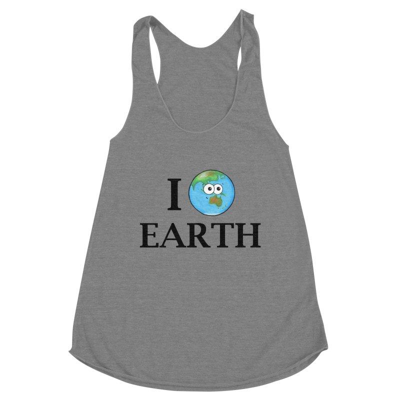 I Heart Earth Women's Racerback Triblend Tank by Adrienne Body
