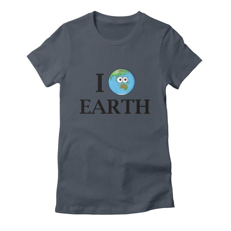 I Heart Earth Women's T-Shirt by Adrienne Body