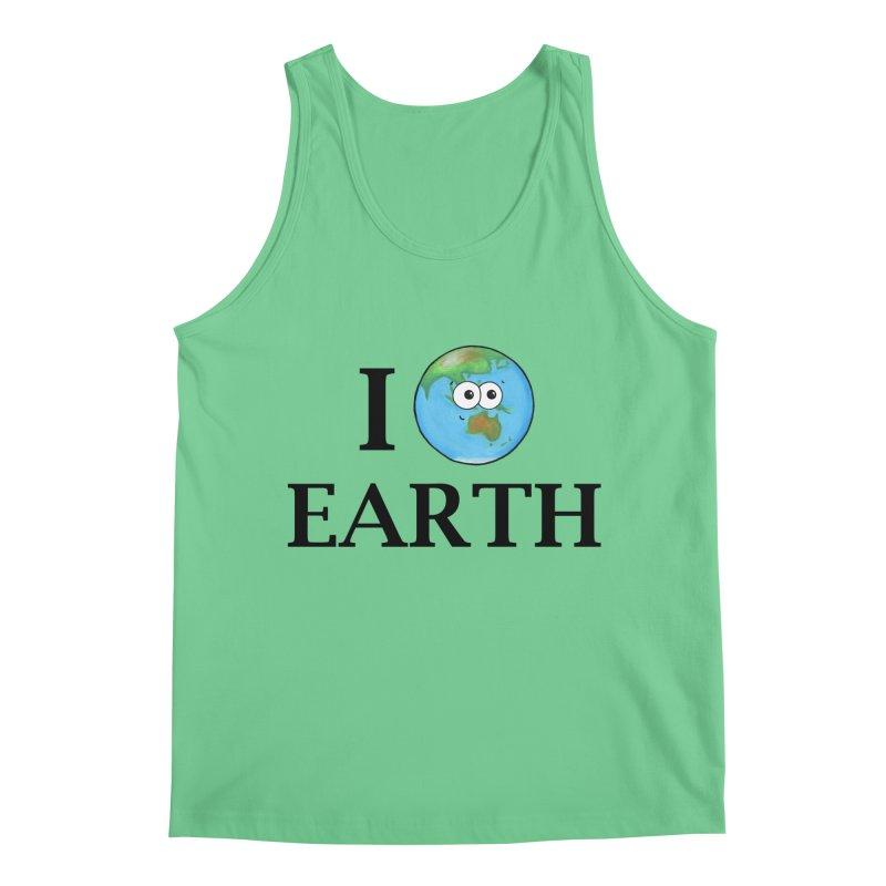 I Heart Earth Men's Tank by Adrienne Body