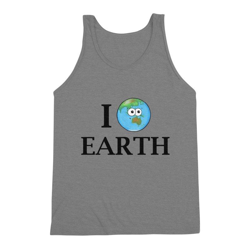 I Heart Earth Men's Triblend Tank by Adrienne Body