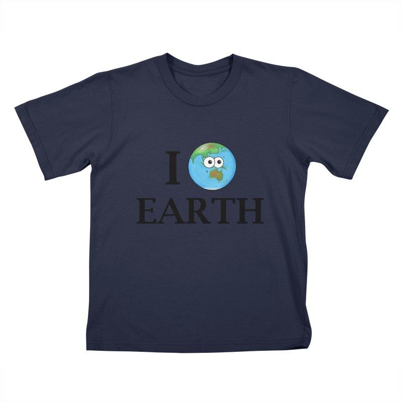 I Heart Earth Kids T-Shirt by Adrienne Body