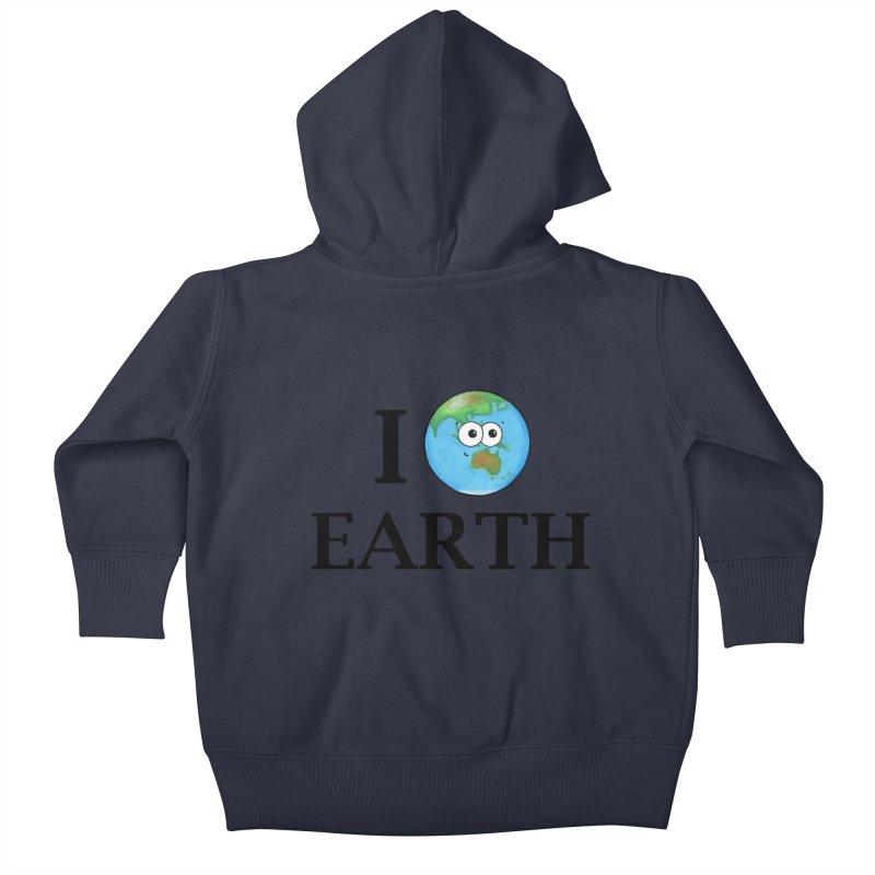 I Heart Earth Kids Baby Zip-Up Hoody by Adrienne Body