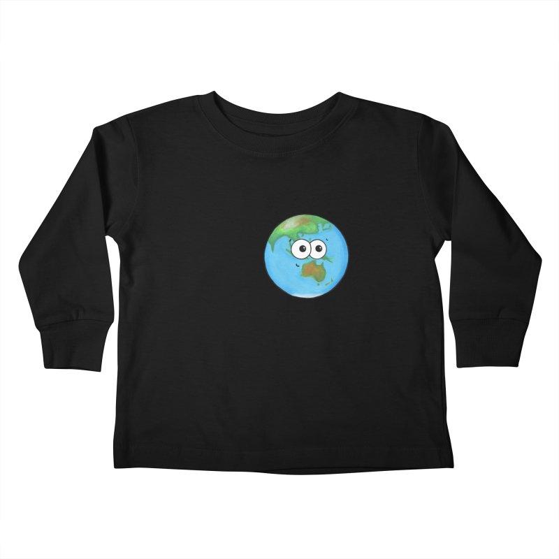 I Heart Earth Kids Toddler Longsleeve T-Shirt by Adrienne Body