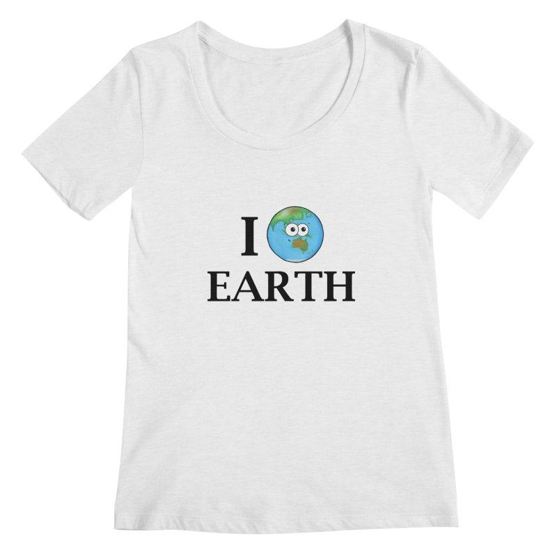 I Heart Earth Women's Regular Scoop Neck by Adrienne Body