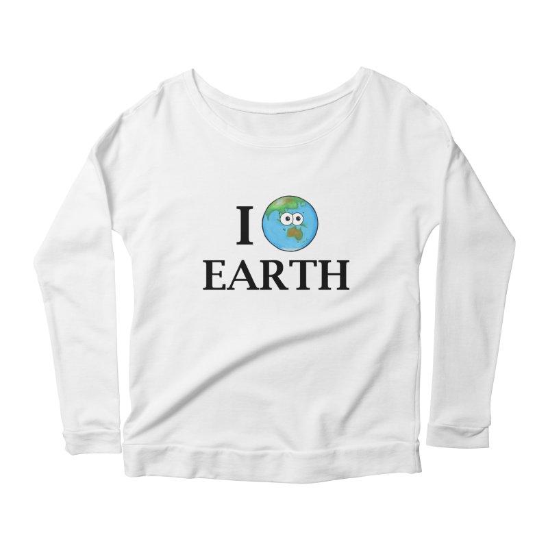 I Heart Earth Women's Scoop Neck Longsleeve T-Shirt by Adrienne Body