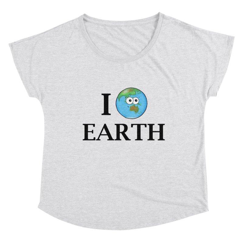 I Heart Earth Women's Dolman Scoop Neck by Adrienne Body