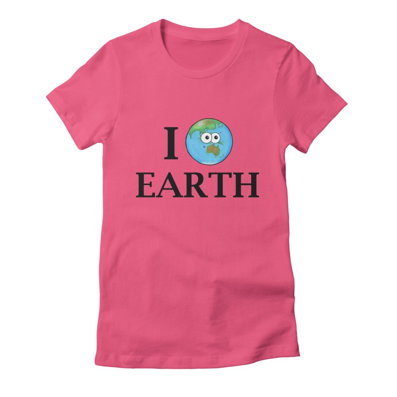 I Heart Earth Women's Fitted T-Shirt by Adrienne Body