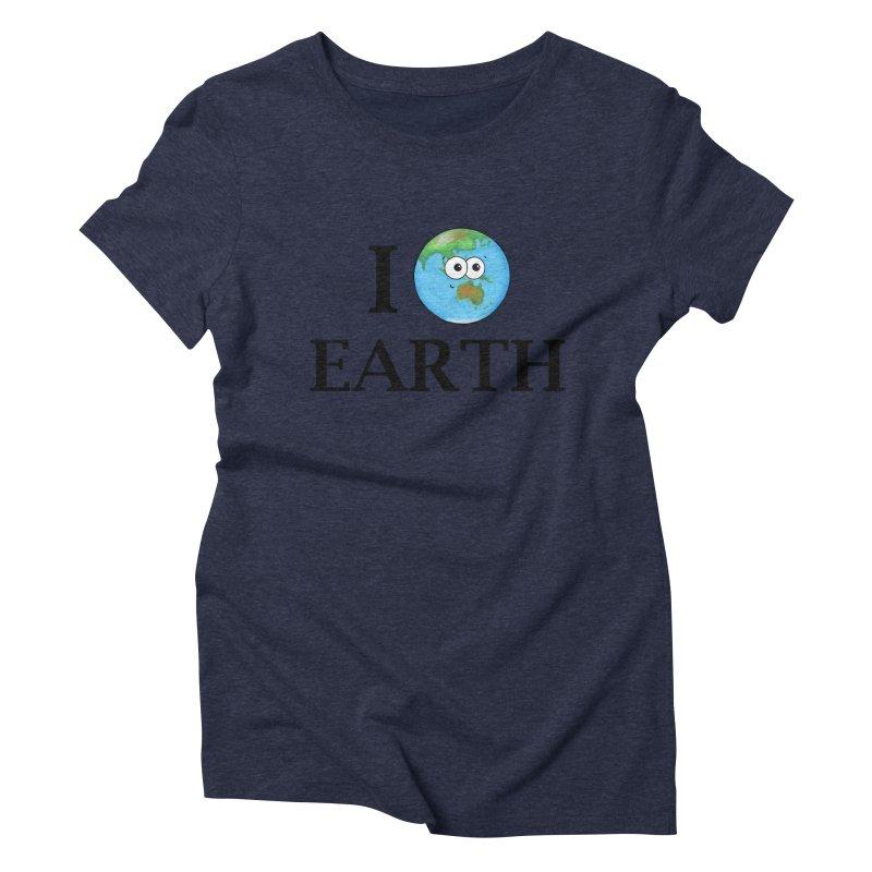 I Heart Earth Women's Triblend T-Shirt by Adrienne Body