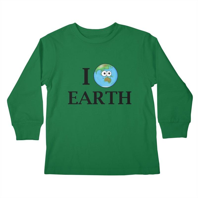 I Heart Earth Kids Longsleeve T-Shirt by Adrienne Body