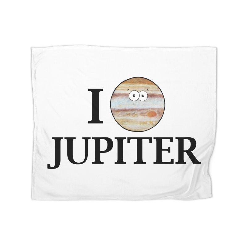 I Heart Jupiter Home Fleece Blanket Blanket by Adrienne Body