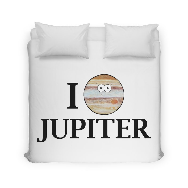 I Heart Jupiter Home Duvet by Adrienne Body