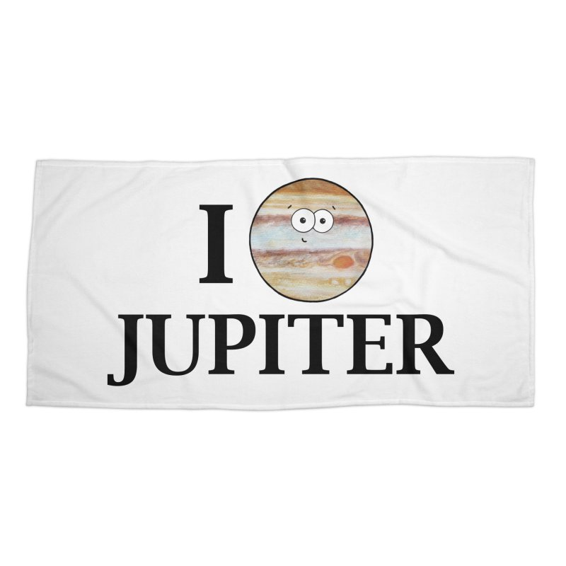 I Heart Jupiter Accessories Beach Towel by Adrienne Body