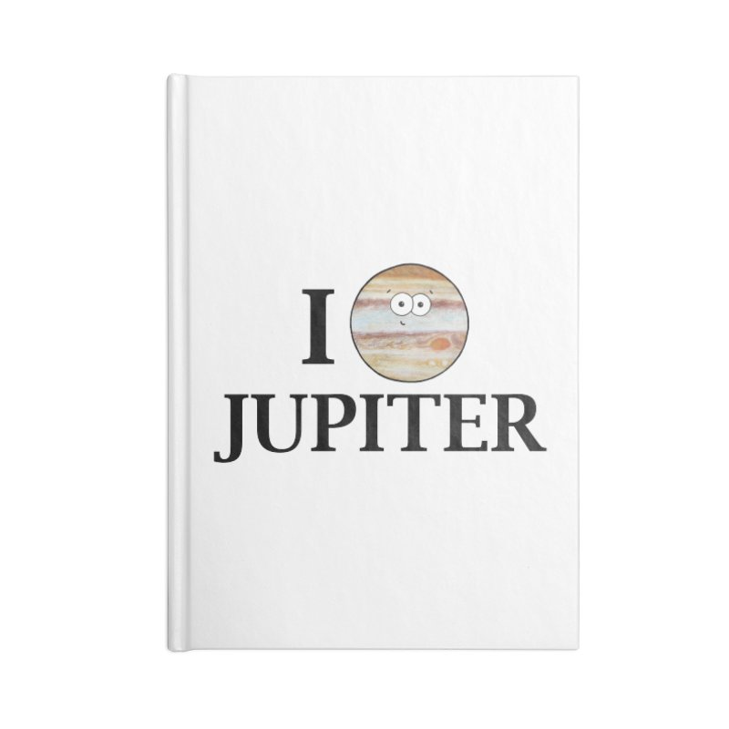I Heart Jupiter Accessories Lined Journal Notebook by Adrienne Body