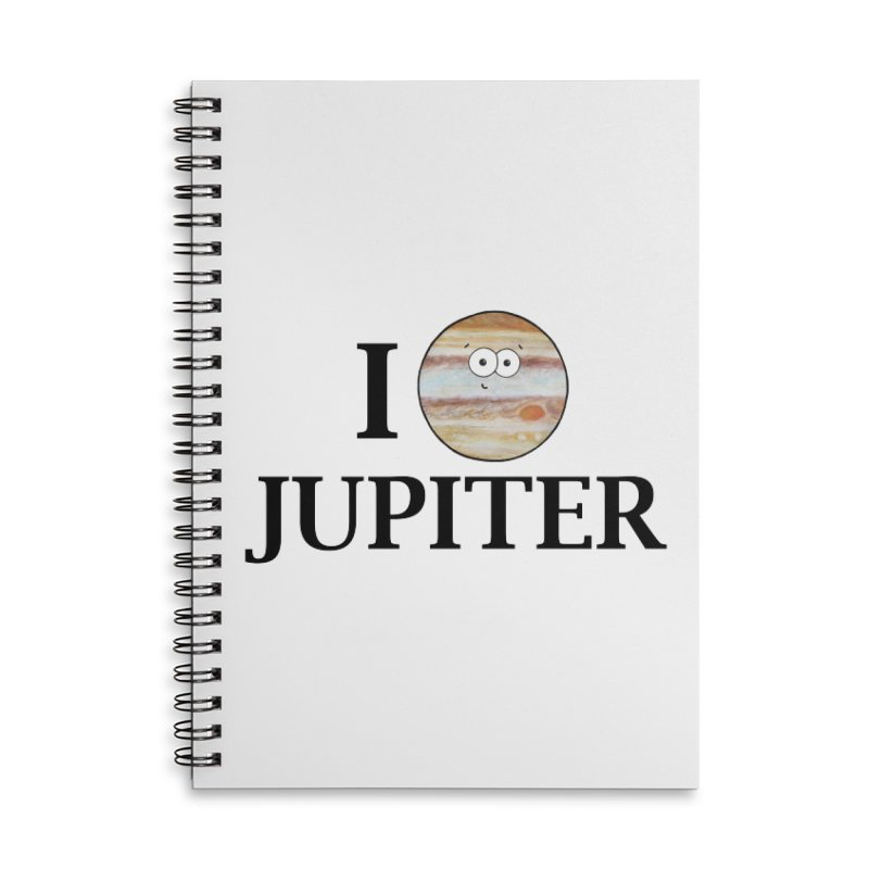 I Heart Jupiter Accessories Lined Spiral Notebook by Adrienne Body