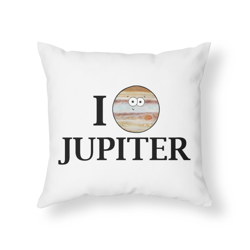 I Heart Jupiter Home Throw Pillow by Adrienne Body