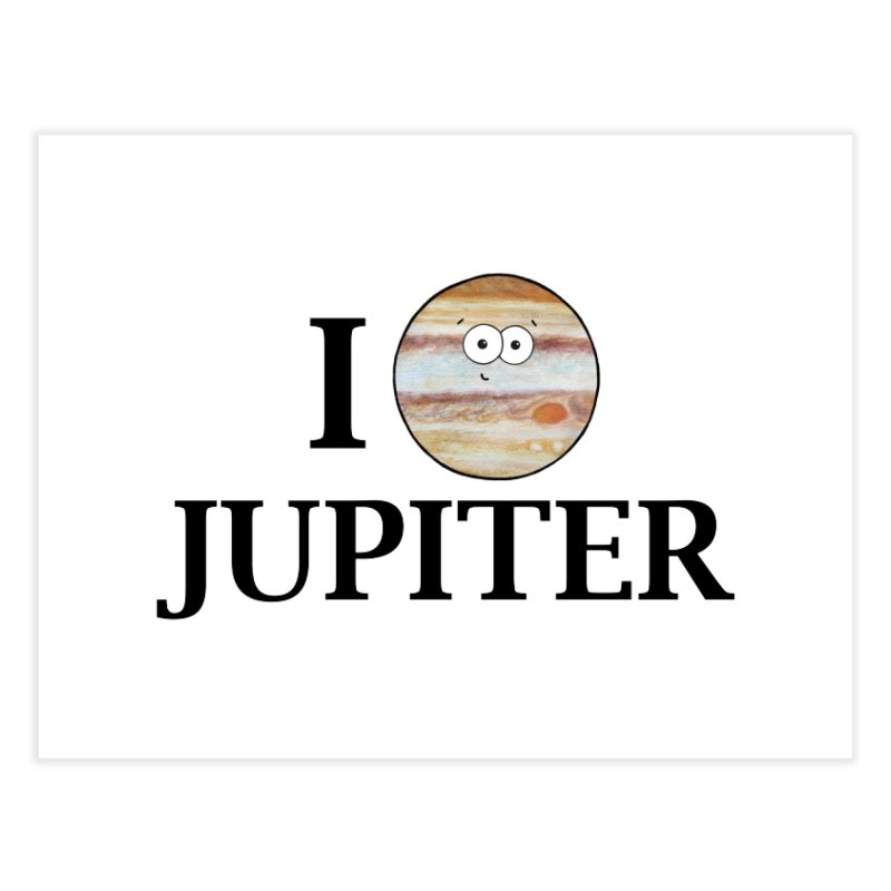 I Heart Jupiter Home Fine Art Print by Adrienne Body