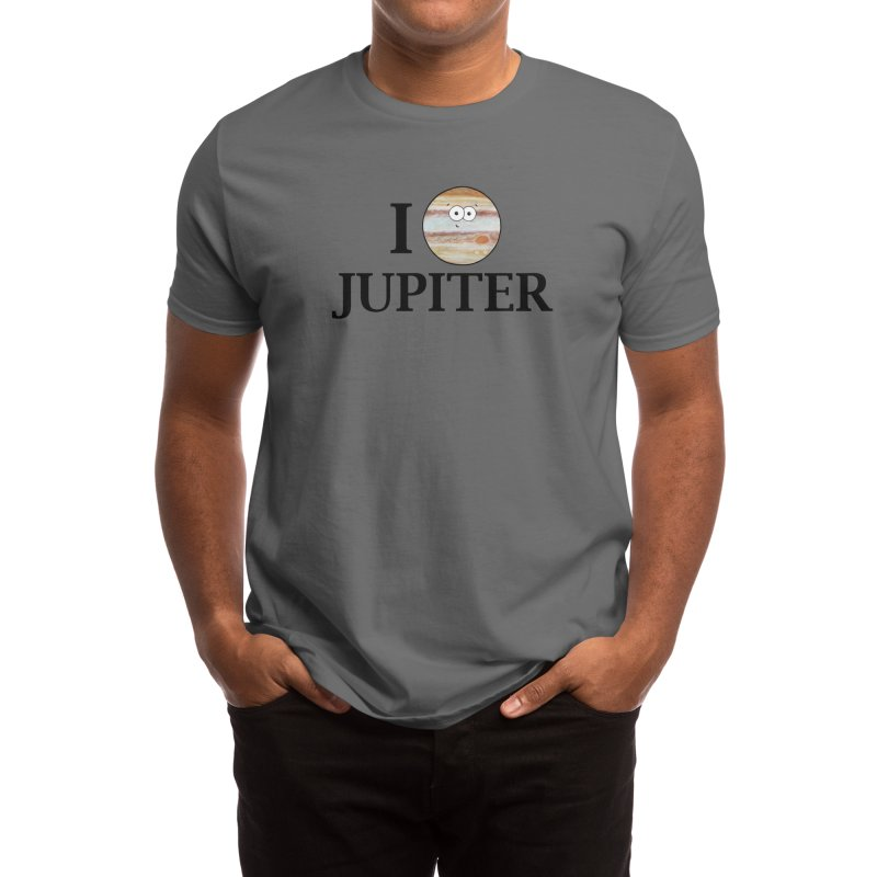 I Heart Jupiter Men's T-Shirt by Adrienne Body