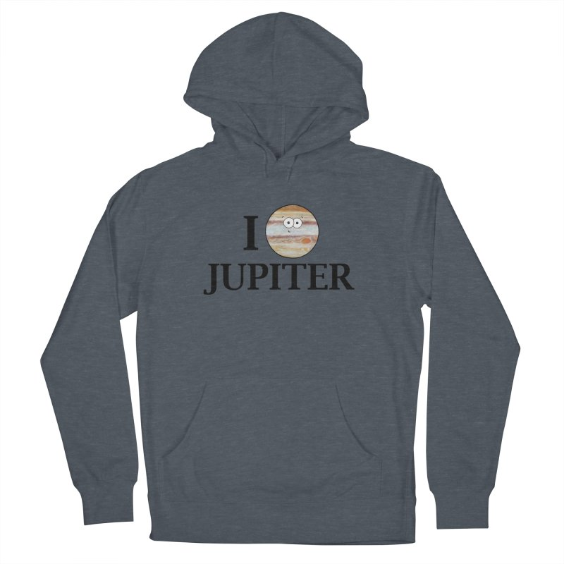 I Heart Jupiter Men's French Terry Pullover Hoody by Adrienne Body