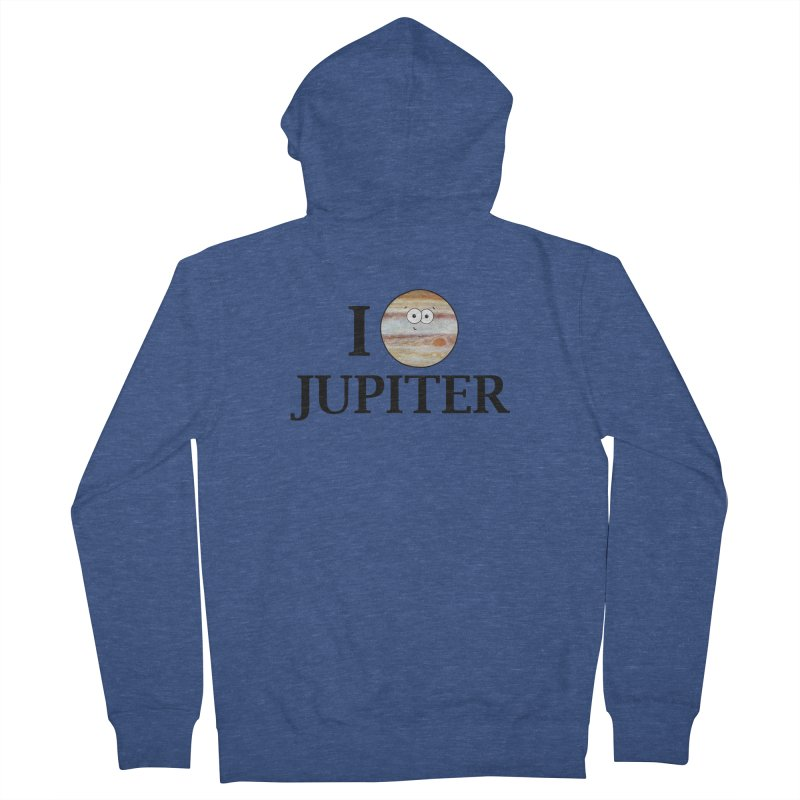 I Heart Jupiter Men's French Terry Zip-Up Hoody by Adrienne Body