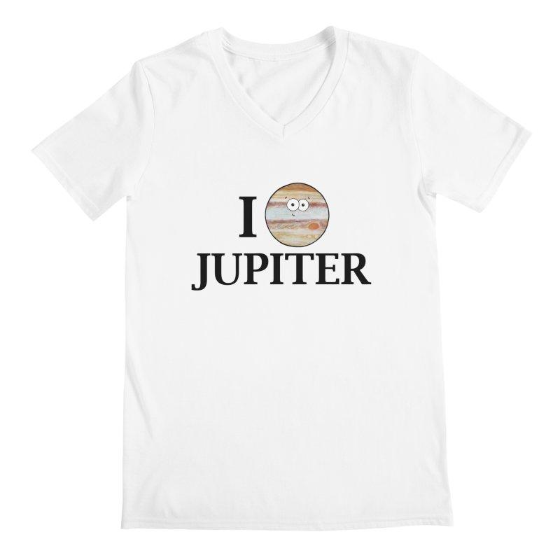 I Heart Jupiter Men's Regular V-Neck by Adrienne Body