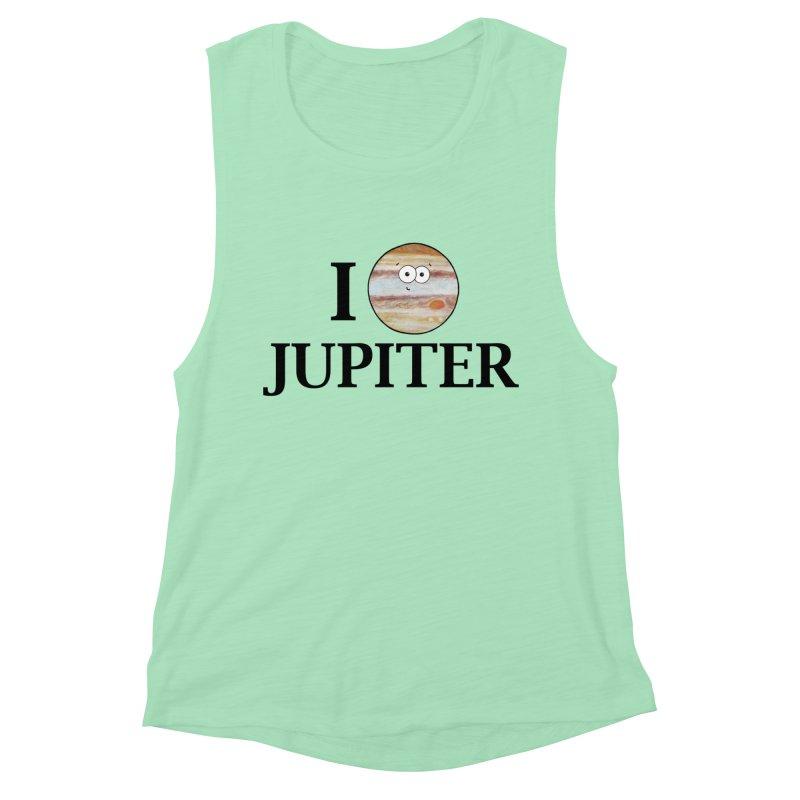 I Heart Jupiter Women's Muscle Tank by Adrienne Body