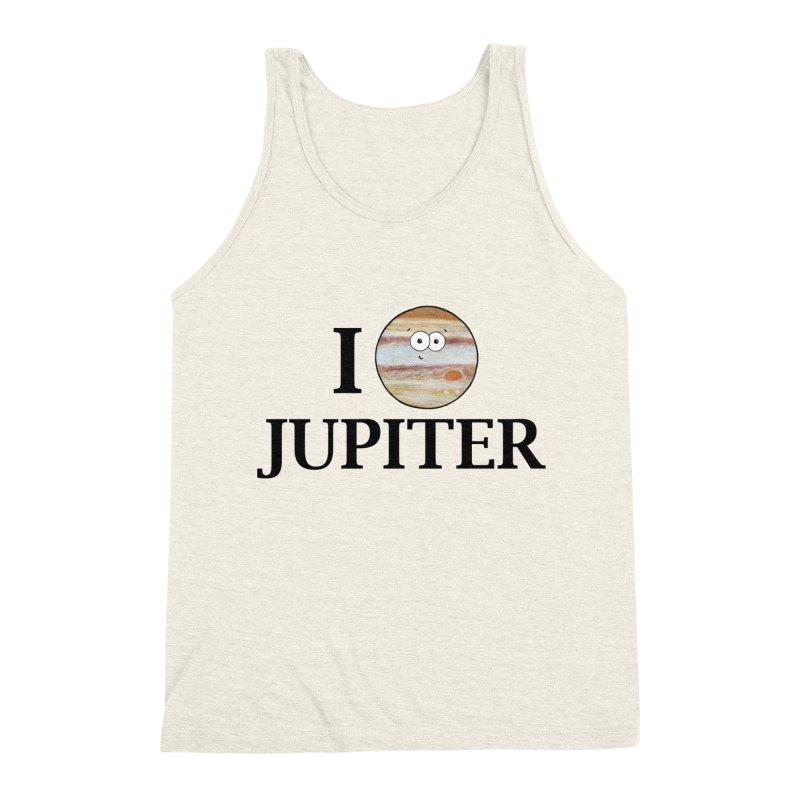 I Heart Jupiter Men's Triblend Tank by Adrienne Body