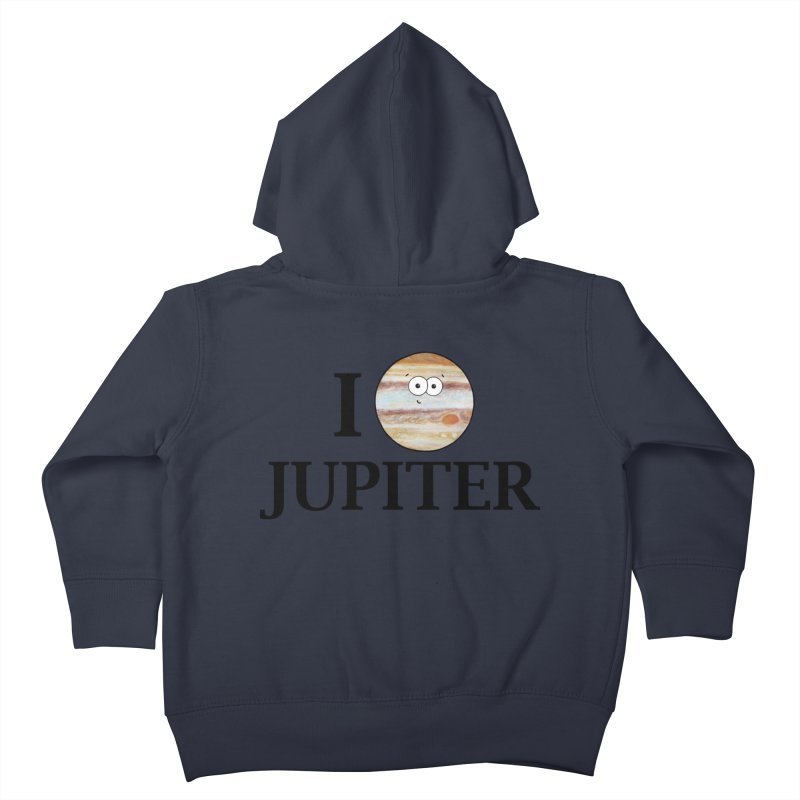 I Heart Jupiter Kids Toddler Zip-Up Hoody by Adrienne Body