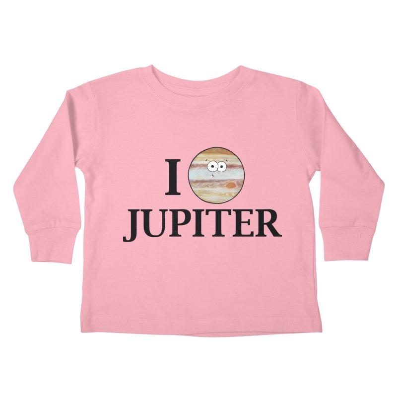 I Heart Jupiter Kids Toddler Longsleeve T-Shirt by Adrienne Body