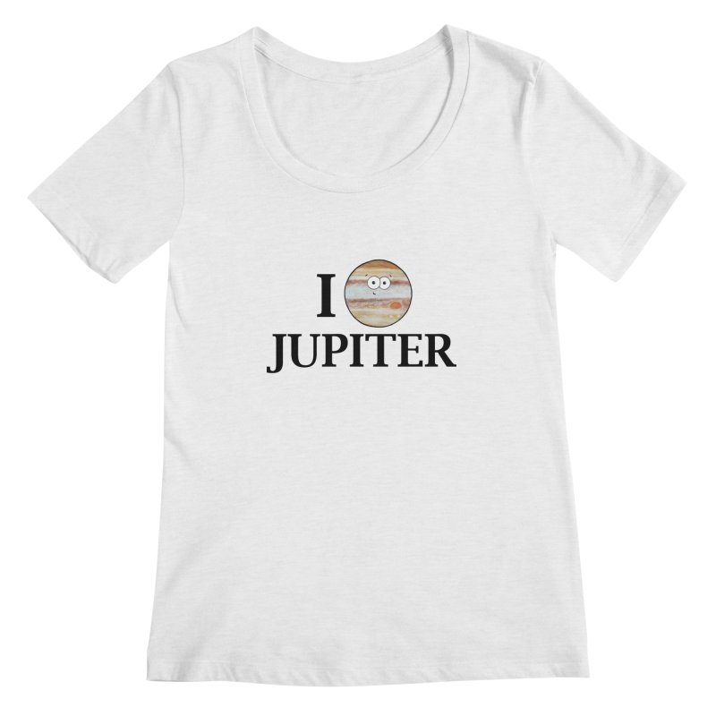 I Heart Jupiter Women's Regular Scoop Neck by Adrienne Body