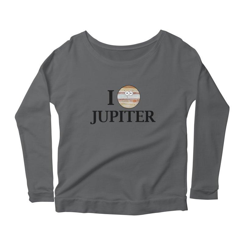 I Heart Jupiter Women's Scoop Neck Longsleeve T-Shirt by Adrienne Body