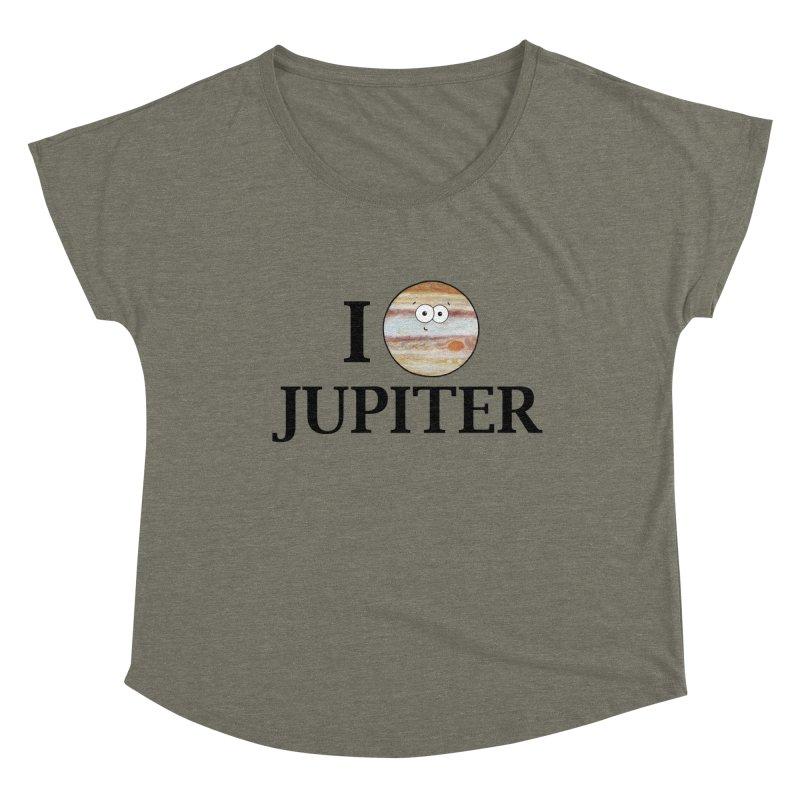 I Heart Jupiter Women's Dolman Scoop Neck by Adrienne Body