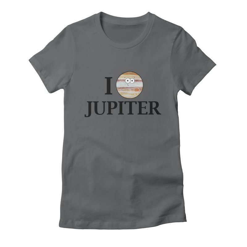I Heart Jupiter Women's Fitted T-Shirt by Adrienne Body