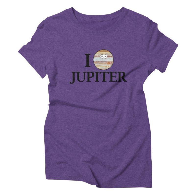I Heart Jupiter Women's Triblend T-Shirt by Adrienne Body