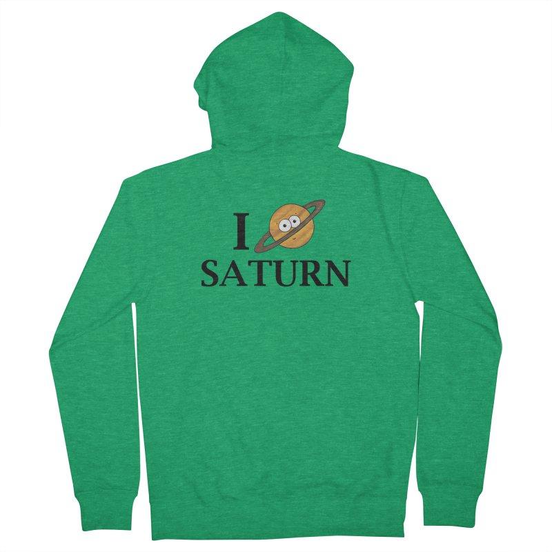I Heart Saturn Men's Zip-Up Hoody by Adrienne Body
