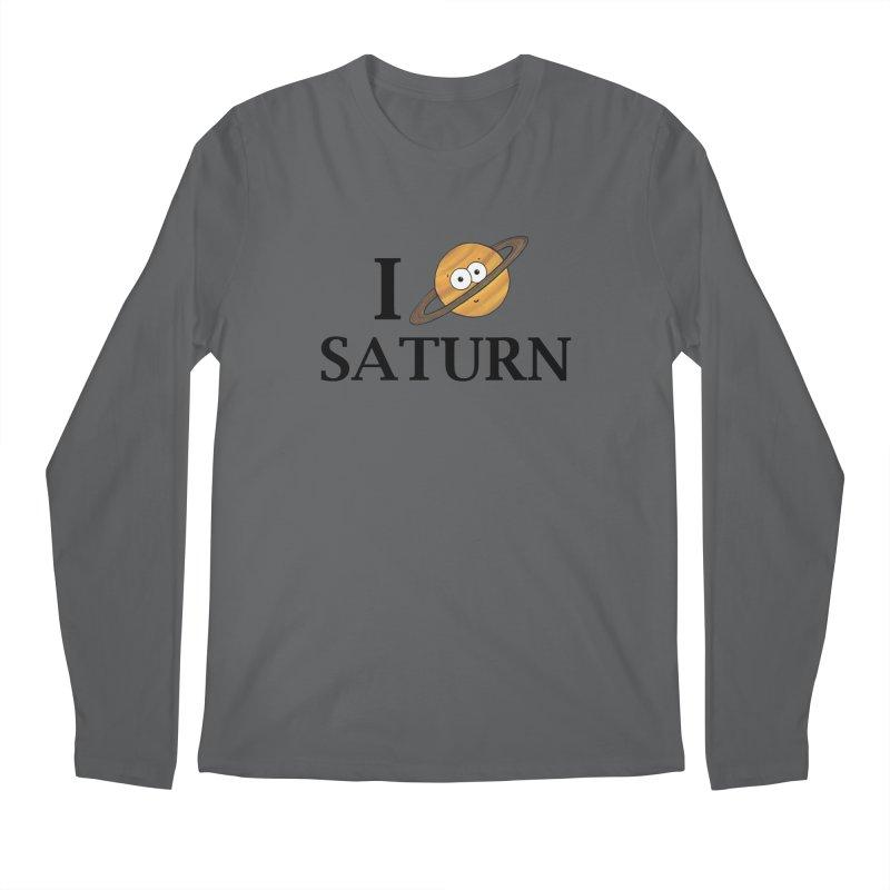 I Heart Saturn Men's Regular Longsleeve T-Shirt by Adrienne Body