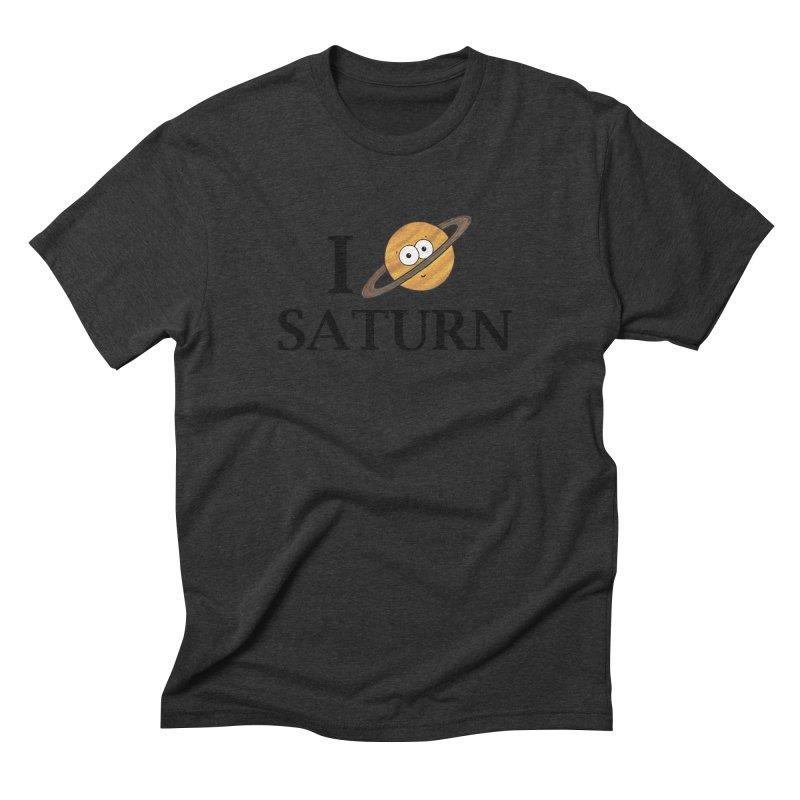 I Heart Saturn Men's Triblend T-Shirt by Adrienne Body