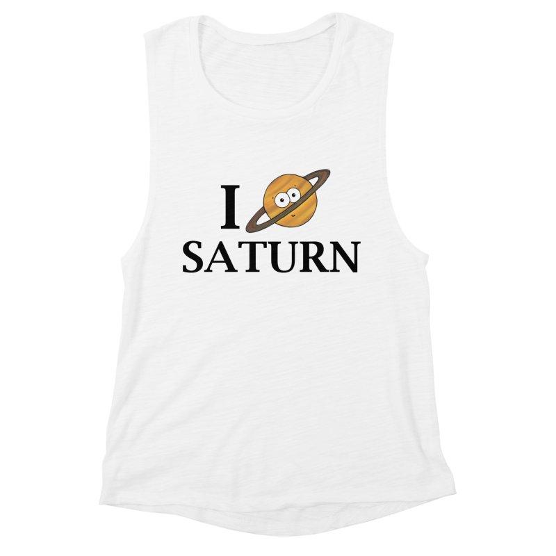 I Heart Saturn Women's Muscle Tank by Adrienne Body