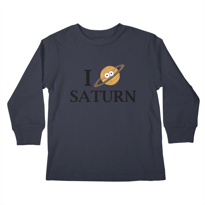 I Heart Saturn Kids Longsleeve T-Shirt by Adrienne Body
