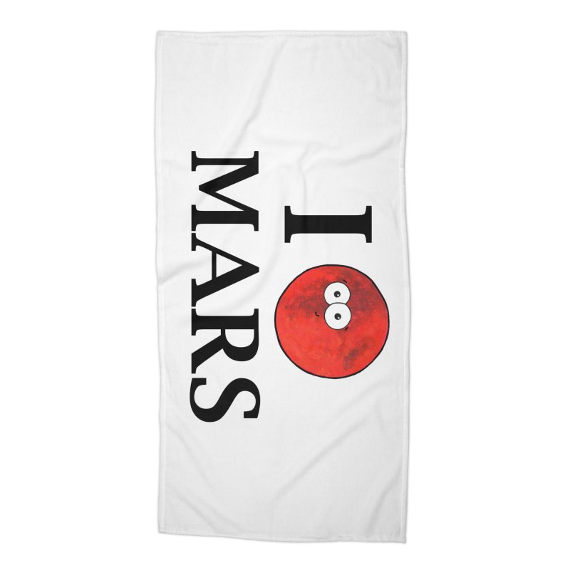 I Heart Mars Accessories Beach Towel by Adrienne Body
