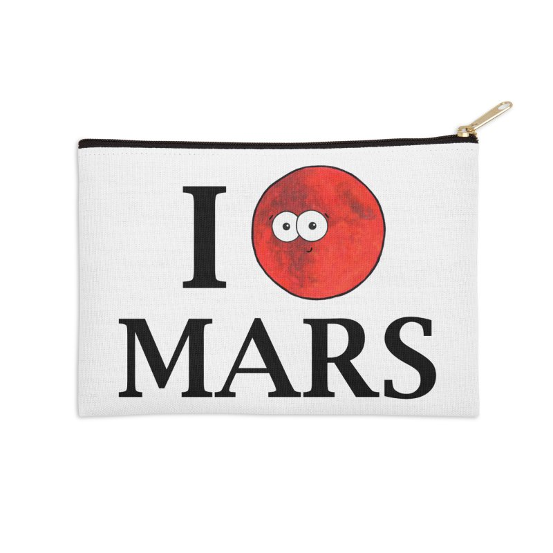 I Heart Mars Accessories Zip Pouch by Adrienne Body
