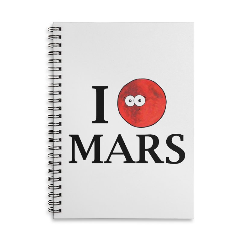 I Heart Mars Accessories Lined Spiral Notebook by Adrienne Body