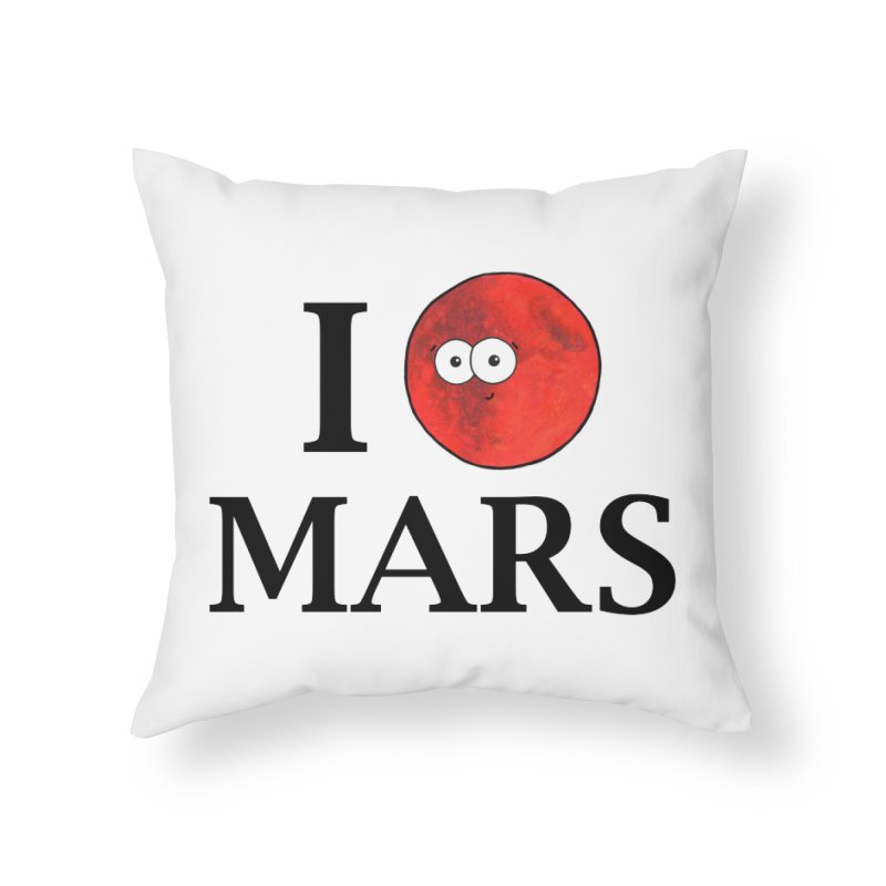 I Heart Mars Home Throw Pillow by Adrienne Body