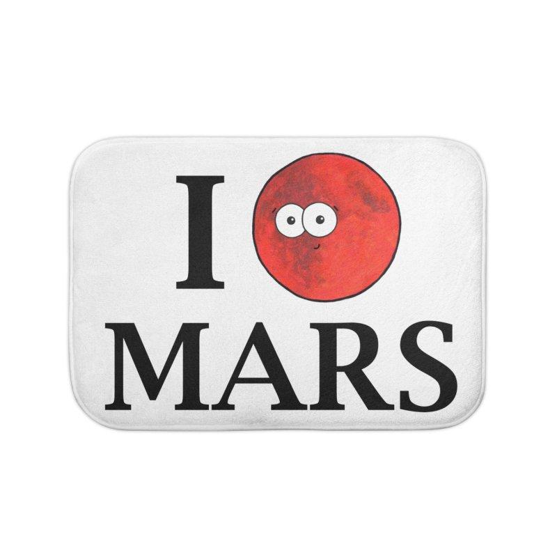 I Heart Mars Home Bath Mat by Adrienne Body